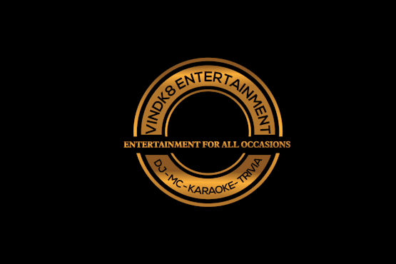 VinDk8 Entertainment Logo - GOLD